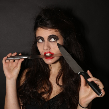 Modern Horror Stories - Girl with knives
